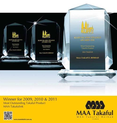 MAA Takafulink - Produk Takaful Terbaik 2009, 2010 & 2011 !